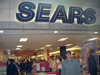 About to go into Sears to spend our $500