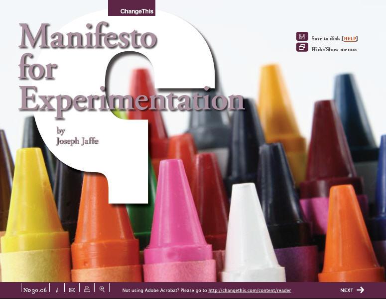 Manifestoforexperimentation